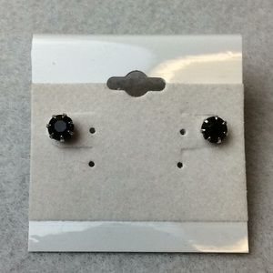 Jewelry - New Silver and Black Stud Earrings